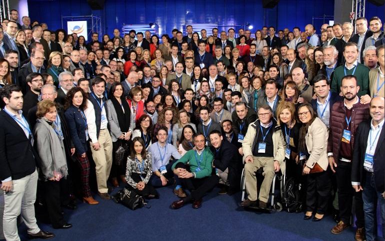 Éxito rotundo de la Convención Nacional del PP con una importante representación del Partido Popular de Ciudad Real