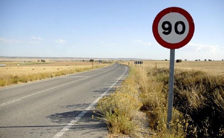 A partir del 29 de enero no se podrá circular a más de 90 kms hora por las carreteras convencionales