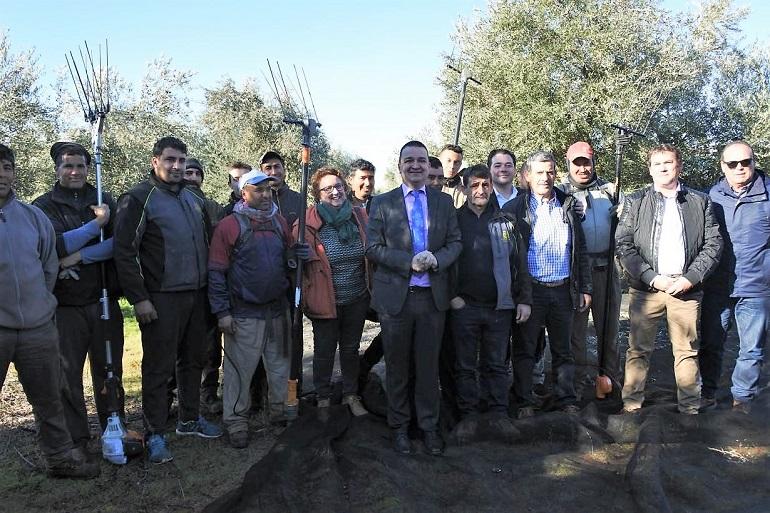 Pozuelo de Calatrava El Consejero de Agricultura, Francisco Martínez Arroyo, ha visitado la Cooperativa Ntra. Sra. de los Santos así como diferentes explotaciones agrícolas de la localidad