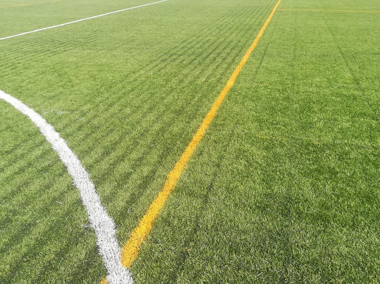 Deterioro del cesped del Campo de Futbol de Pozuelo de Calatrava