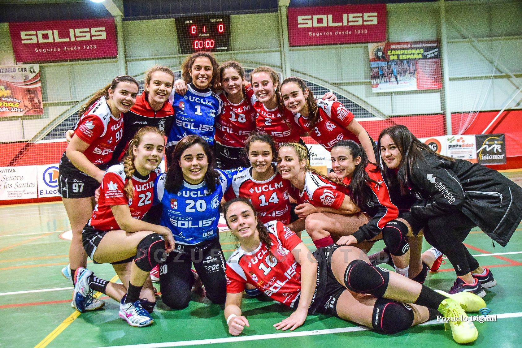 El Soliss BM Pozuelo Juvenil Femenino por quinta vez consecutiva campeonas de liga de Castilla La Mancha