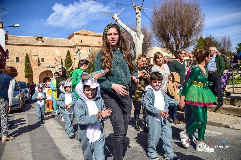 Pozuelo de Calatrava Los alumnos del Colegio Público José María de la Fuente inauguran el Carnaval 2019