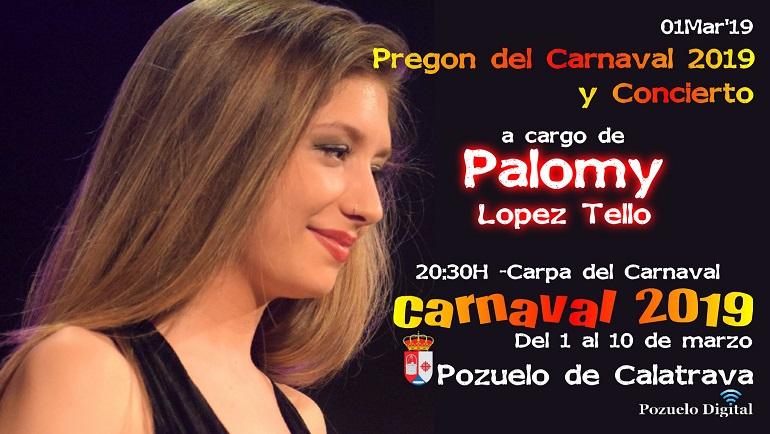 Pozuelo de Calatrava da comienzo a sus fiestas carnavaleras este viernes con el Pregón del Carnaval a cargo de Palomy