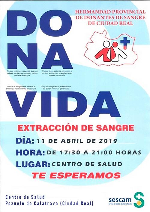 Donacion de Sangre 11 de abril de 2019 en Pozuelo de Calatrava