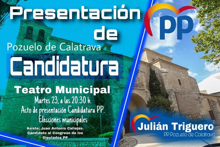 Los Populares de Pozuelo de Calatrava presentarán su lista electoral el próximo 23 de abril