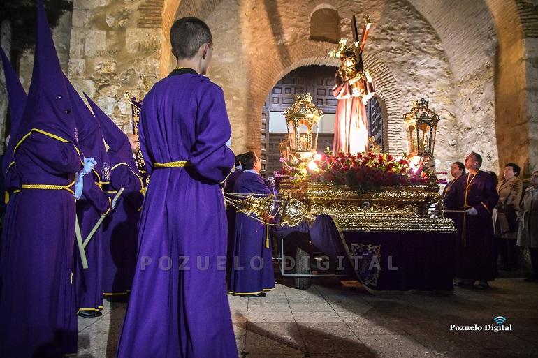 Pozuelo de Calatrava La lluvia respetó la Procesión de Jesús Nazareno y de la Vera Cruz
