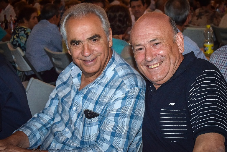 Eusebio Angulo con Antonio Sánchez Reina