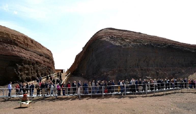 Granátula de Calatrava El volcán-museo Cerro Gordo de alcanza los 30.000 visitantes