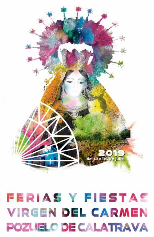 Cartel Feria y Fiestas 2019 Pozuelo de Calatrava 01