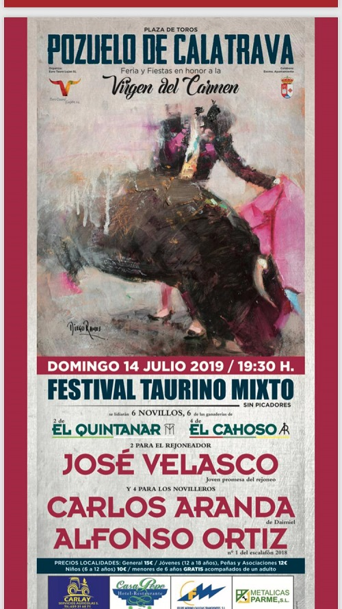 Cartel Festival Taurino Feria y Fiestas 2019