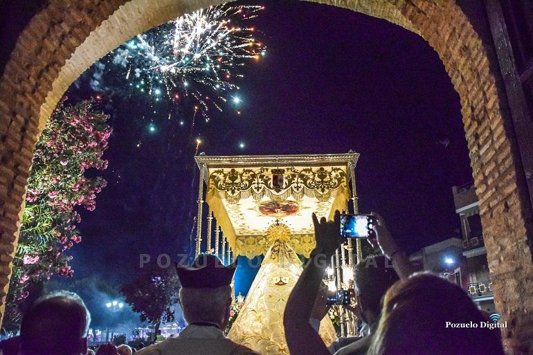 La Procesión de la Virgen del Carmen puso el broche de oro a las Feria y Fiestas 2019 de Pozuelo de Calatrava
