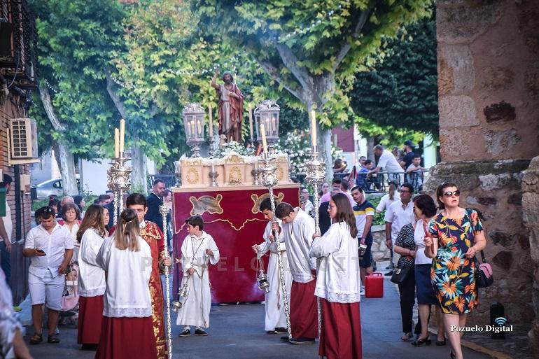 Pozuelo de Calatrava La procesión de San Juan Bautista clausura las fiestas en honor al Patrón