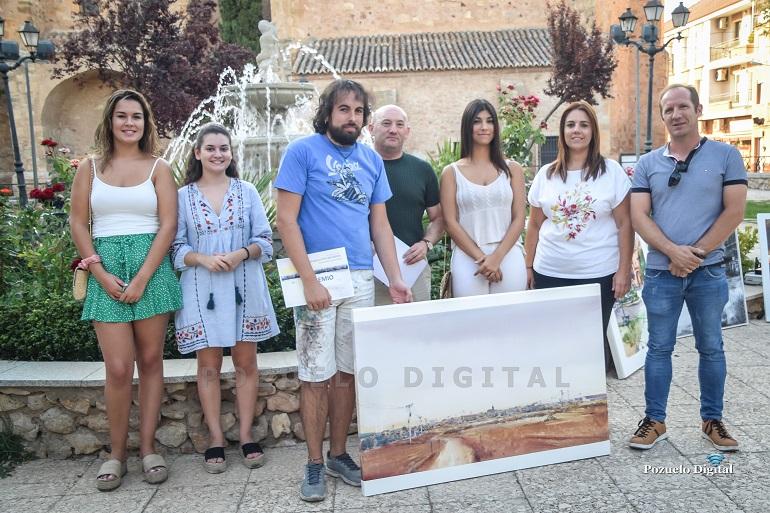 """El malagonero Juan Saturio Santos se proclama ganador del IV Certamen de Pintura Rápida """"Villa de Pozuelo de Calatrava"""""""