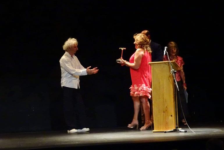 Torralba de Calatrava Rafael Álvarez 'El Brujo' recibió el VII Premio Patio de Comedias