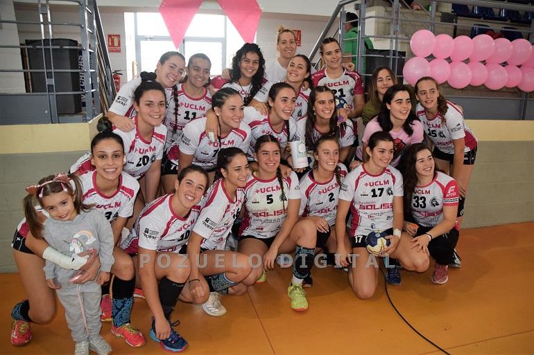 Victoria del Soliss BM Pozuelo que vistió de rosa en apoyo a la lucha contra el cáncer de mama