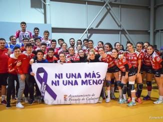 El Club Balonmano Pozuelo contra la violencia de género