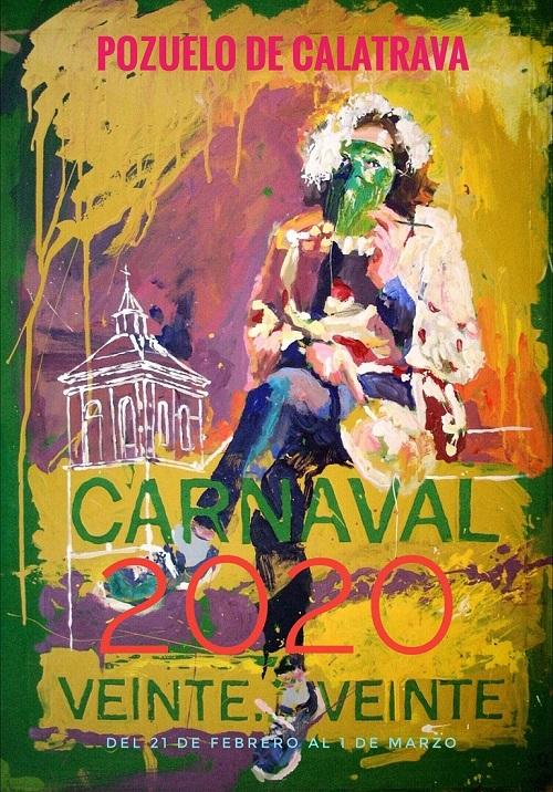 Cartel Ganador Concurso Carnaval 2020 de Pozuelo de Calatrava