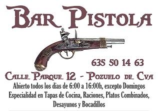 Bar PISTOLA - Calle Parque, 12 - Pozuelo de Cva - Especialidad en Tapas de Cocina, Raciones, Platos Combinados, Desayunos y Bocadillos