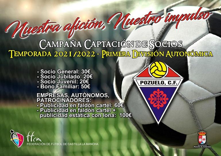 Campaña de Captación de Socios Pozuelo CF Temporada 2021/2022