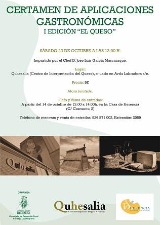 """Certamen de Aplicaciones Grastronómicas - I Edición """"El Queso"""" - Ayuntamiento de Herencia"""